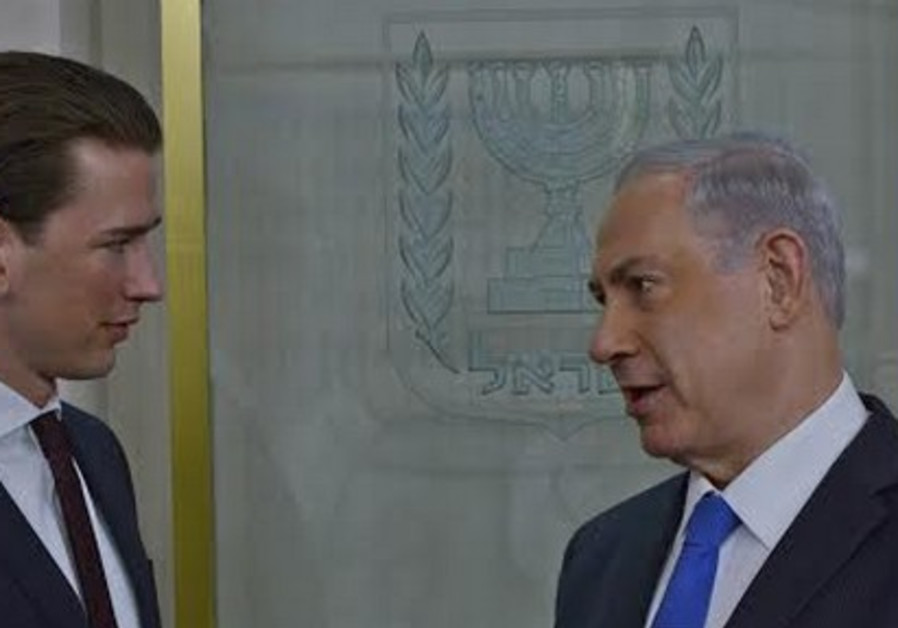 Austrian FM Kurz with PM Netanyahu