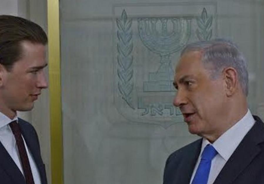 Austrian FM Kurz with PM Netanyahu