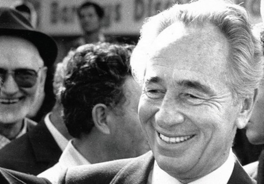 Peres as prime minister in 1986.