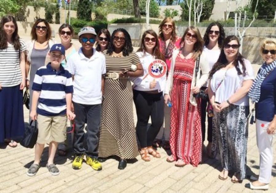 US delegation of widows and Orphans at Yad Vashem