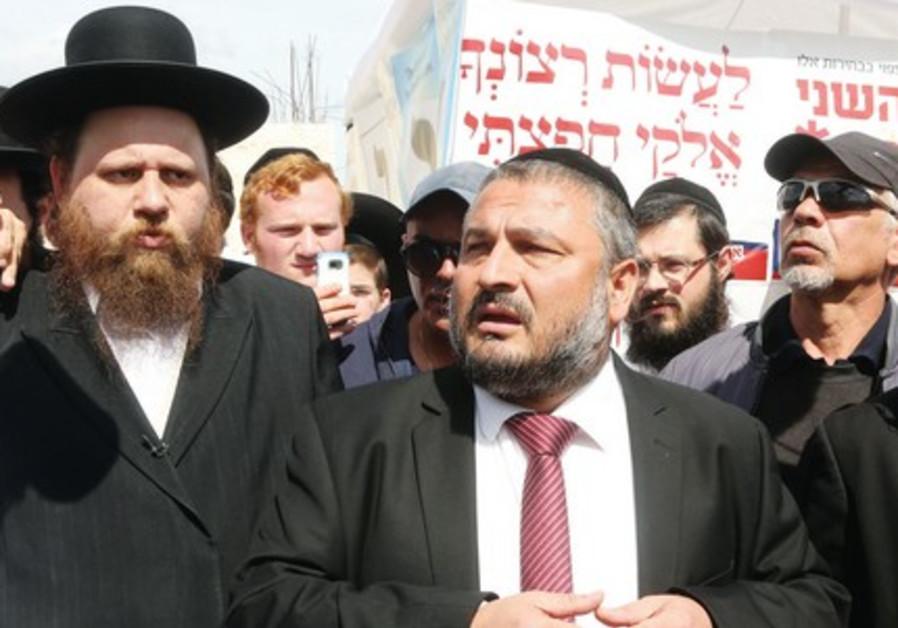 Mayor Moshe Abutbul on the day of the revote