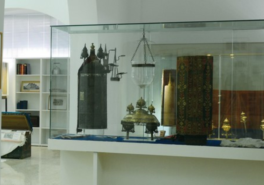 The synagogue on Tel Aviv's Lilienblum Street houses the Aden exhibition