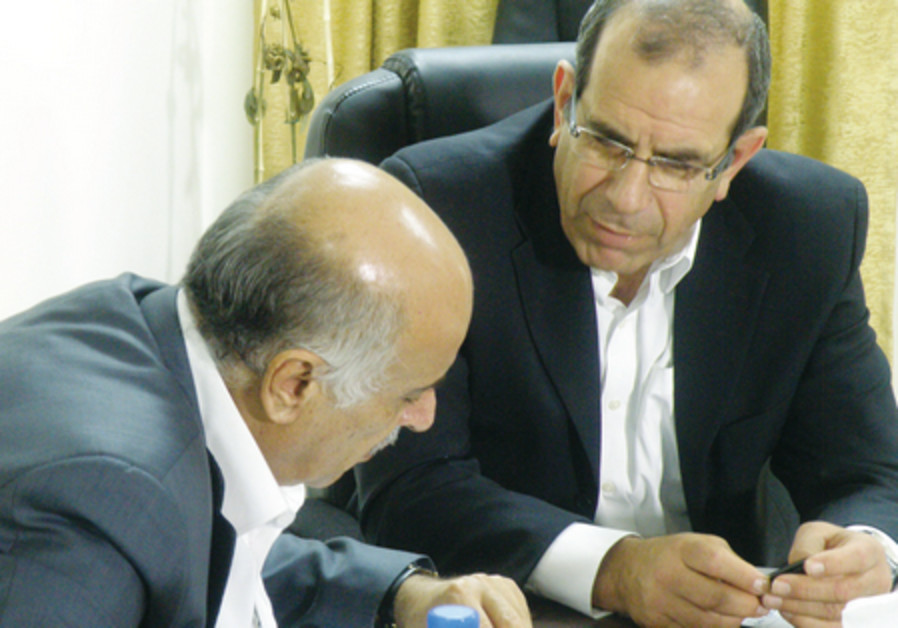 FROM LEFT, former Palestinian Preventive Security Services head and Deputy-Secretary of the Fatah Ce