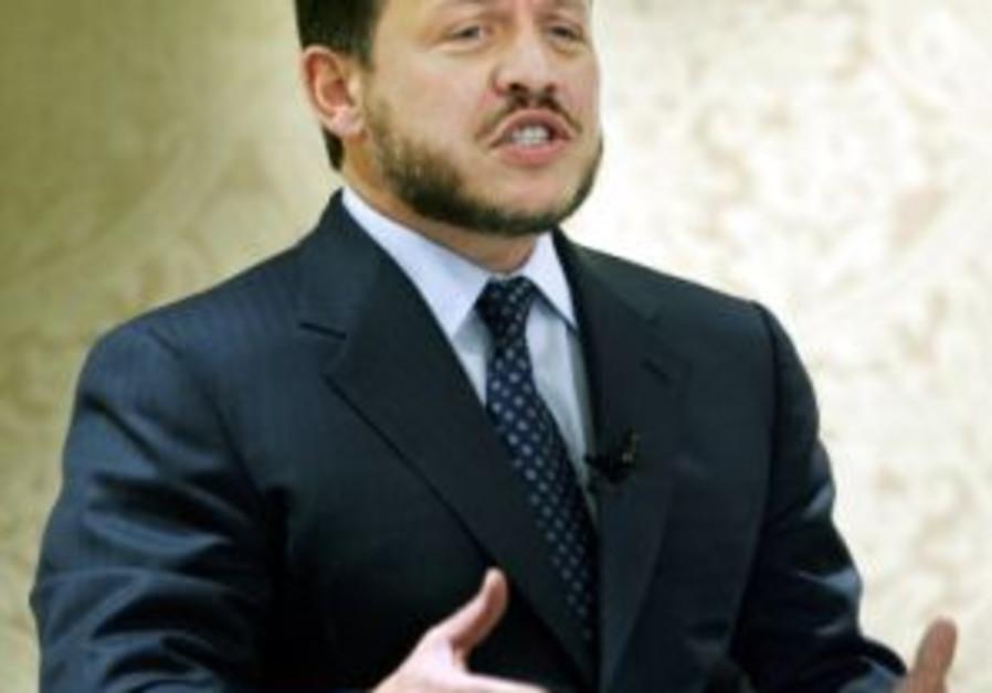 King Abdullah of Jordan speaking 298 ap