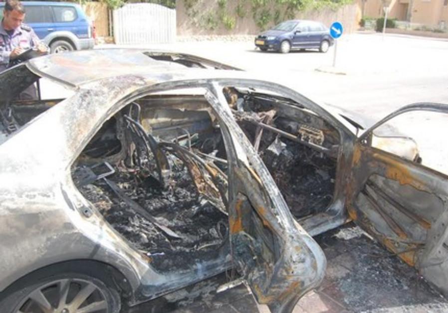 Beersheba car fire