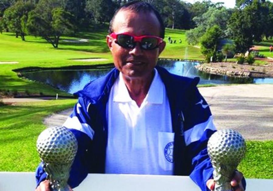 Blind Israeli golfer Zohar Sharon