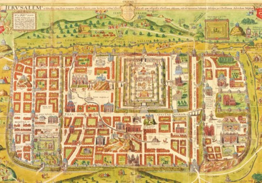 An Ancient Map Of Jerusalem And The World From Which It Came - Jerusalem map world