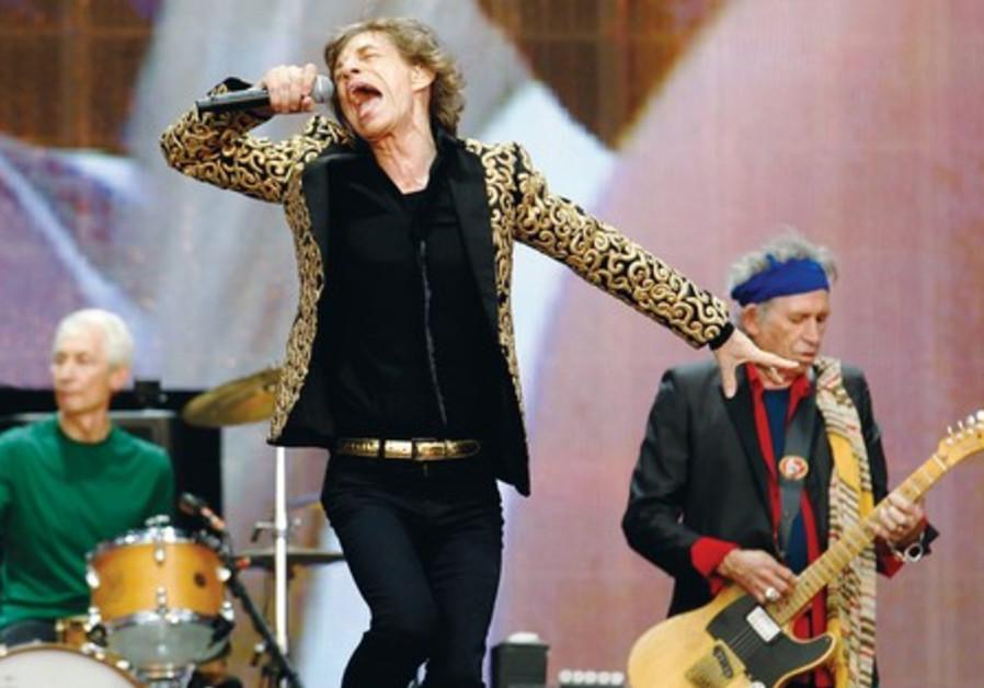 Drummer Charlie Watts, Mick Jagger and Keith Richards.