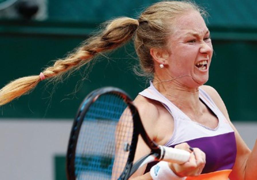 Israeli tennis star Julia Glushko