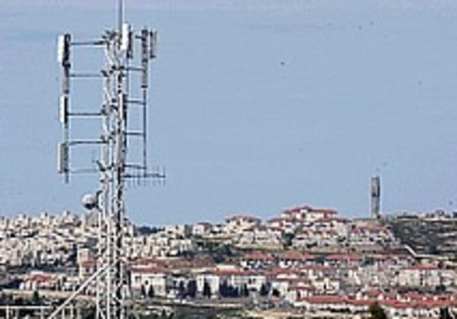 cellular antennae above givat shaul 298