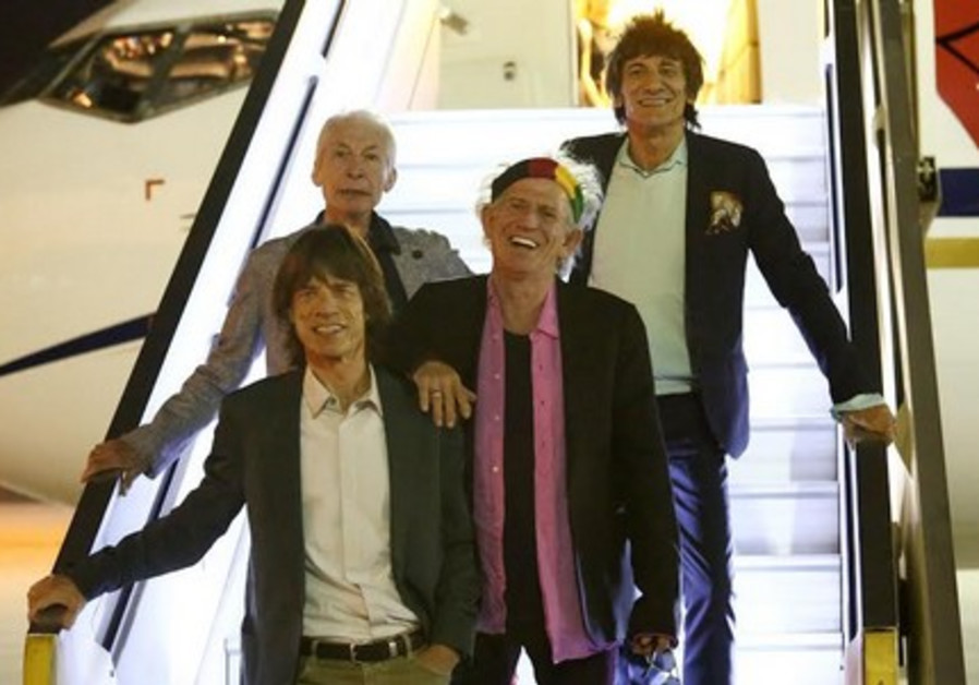 Rolling Stones arrive in Israel