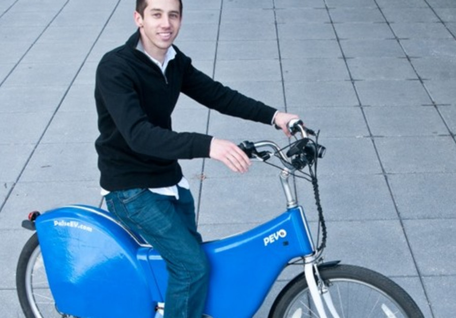 Micah with Ebike