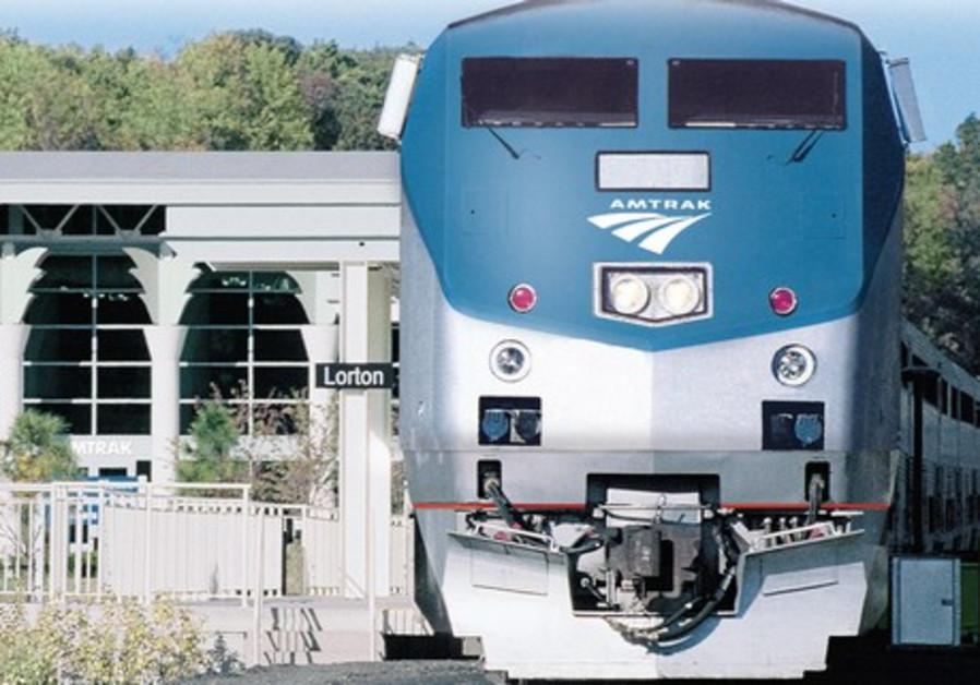 THE AUTO Train leaves the Lorton, Virginia, station.