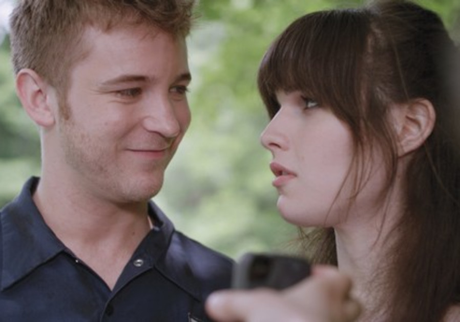 MICHAEL WELCH (left) and Michelle Hendley in a scene from 'Boy Meets Girl'