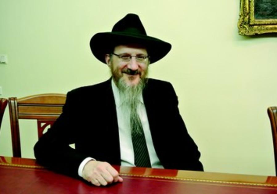 Le Grand rabbin de Russie Berel Lazar