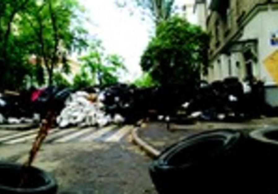 Barricades dans les rues de Donetsk