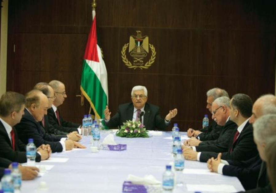 Palestinian President in Ramallah