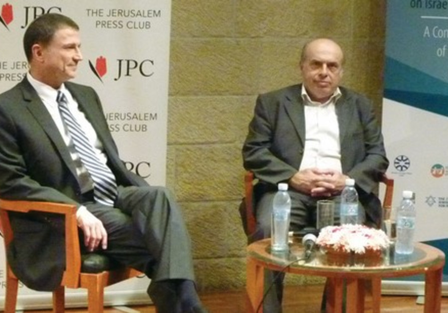 FORMER PRISONERS OF ZION Knesset Speaker Yuli Edelstein and Jewish Agency chairman