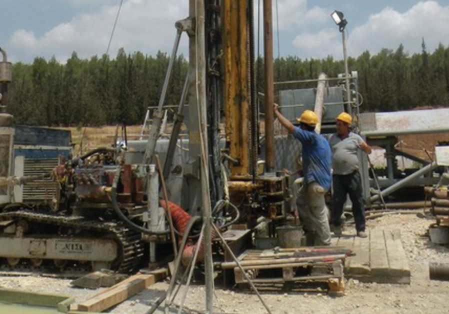 ONE OF IEI's exploratory oil shale drilling sites at Zoharim