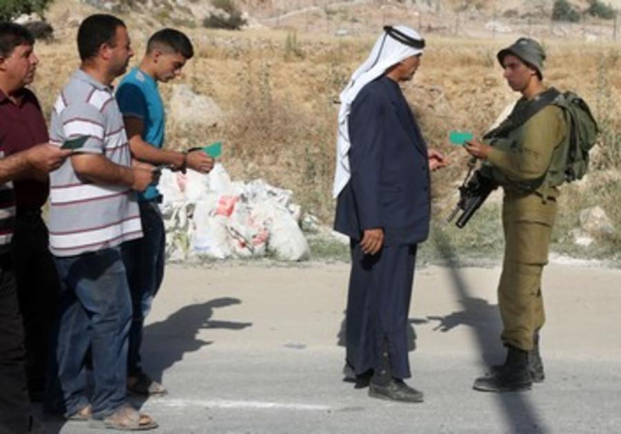 Checkpoint à Hébron