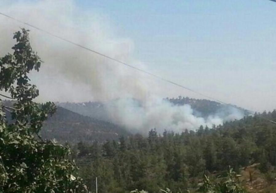 Fire in Jerusalem area, July 2, 2014.