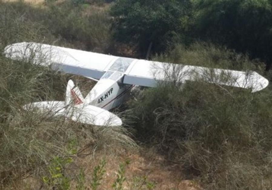 Light plane crash, July 6, 2014