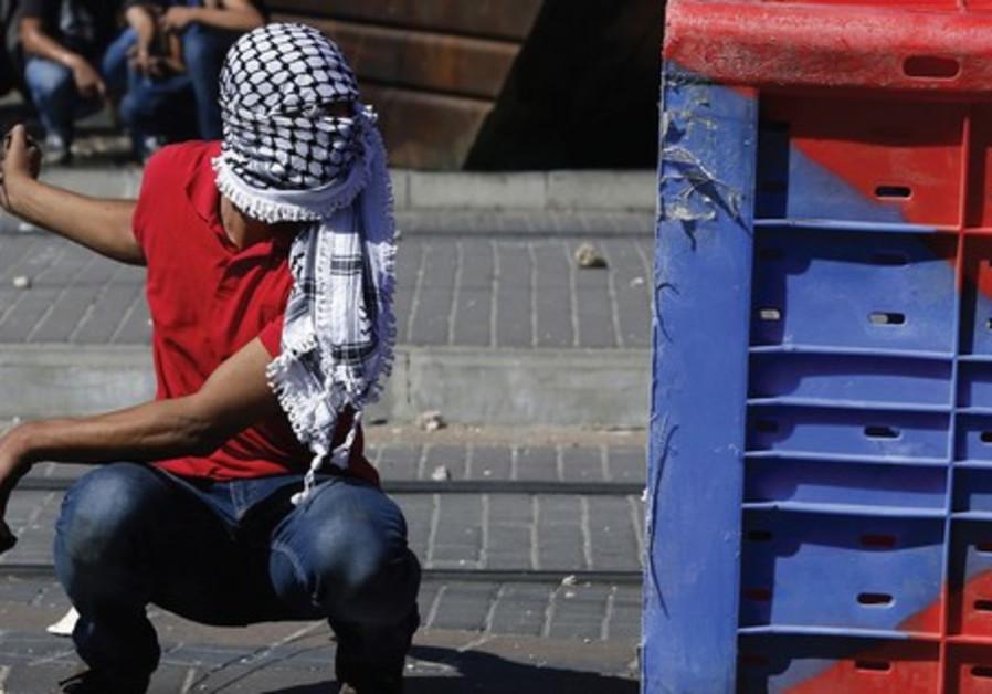 Palestinian rioter