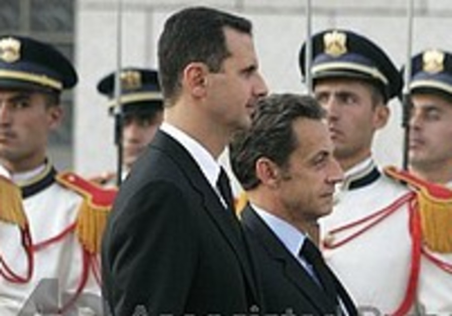 Sarkozy reaches out to Syria on peace