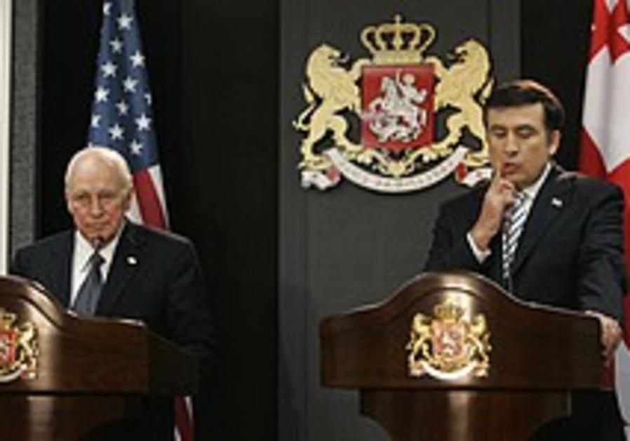Cheney slams Russia for war against Georgia