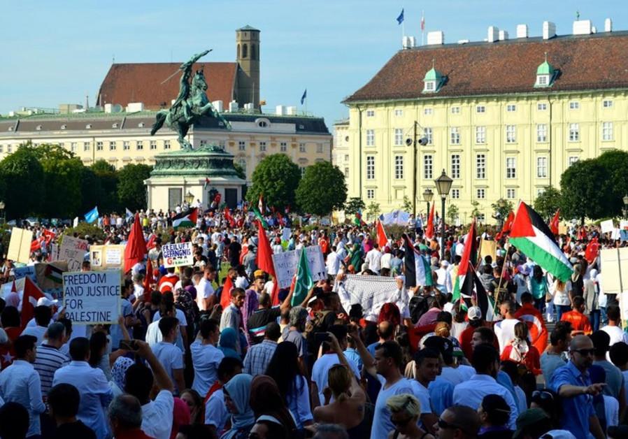 pro-Palestinian rally in Vienna