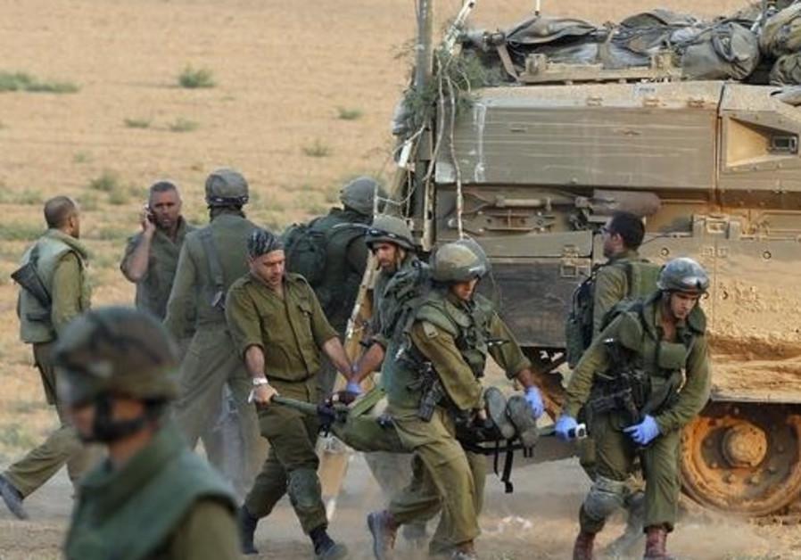wounded gaza idf