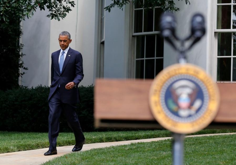 U.S. President Barack Obama speaks about Ukraine at the White House in Washington, July 21, 2014
