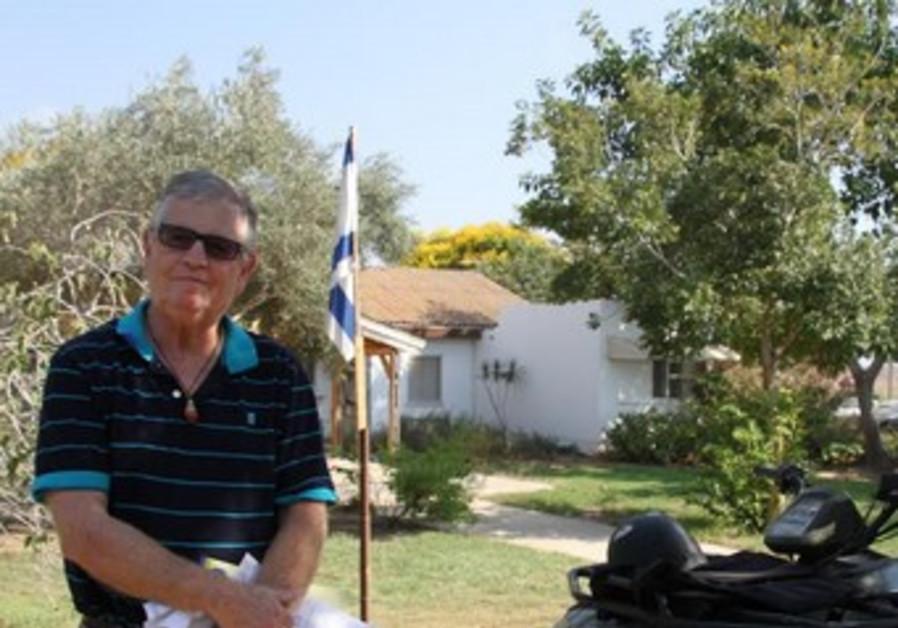 Yigal Cohen on Kibbutz Nir Am, July 21, 2014.
