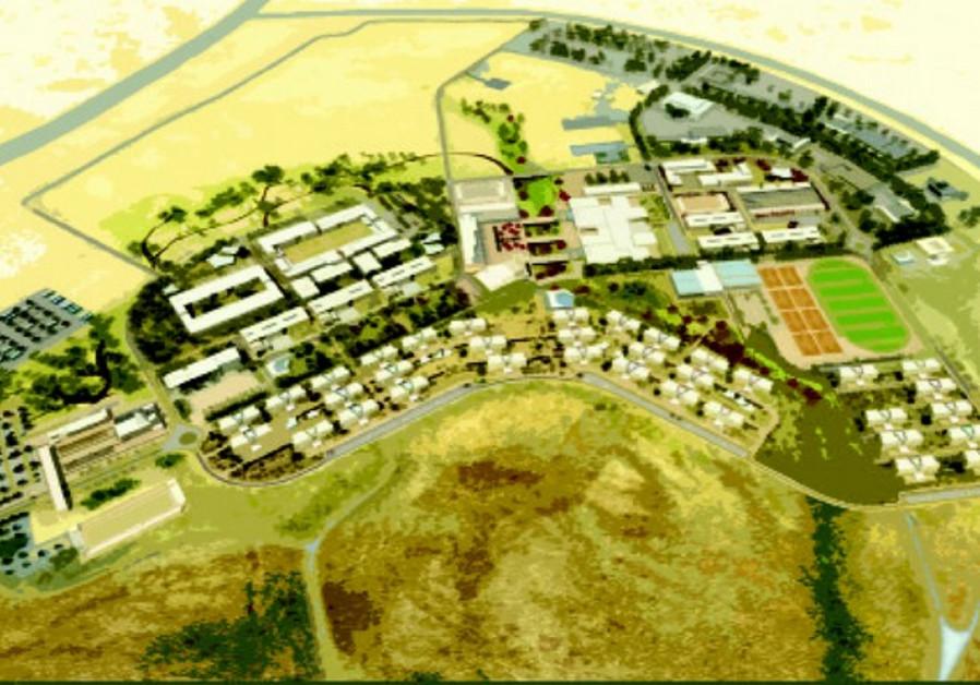 Représentation de la future ville du Néguev