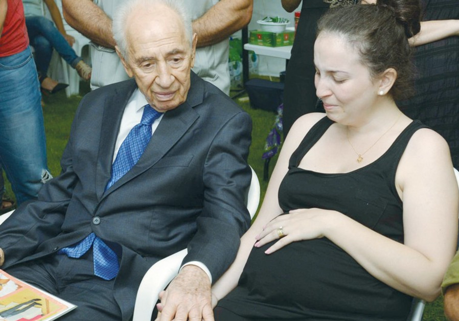 Shimon Peres and Sivan Baror