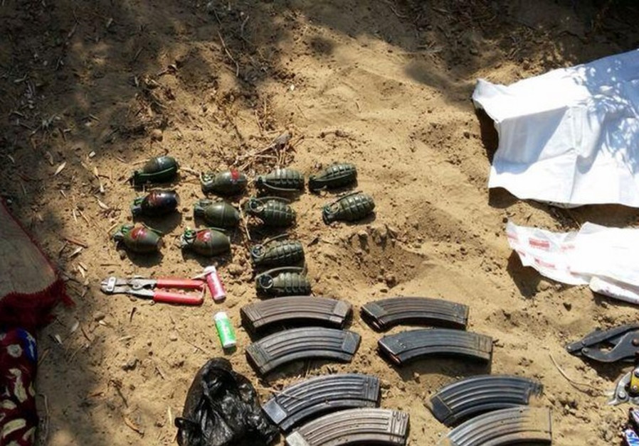 Weapons found in a Gazan tunnel July 24