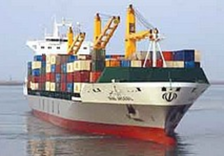 Iran's shipping line, sanctioned by US, denies any military