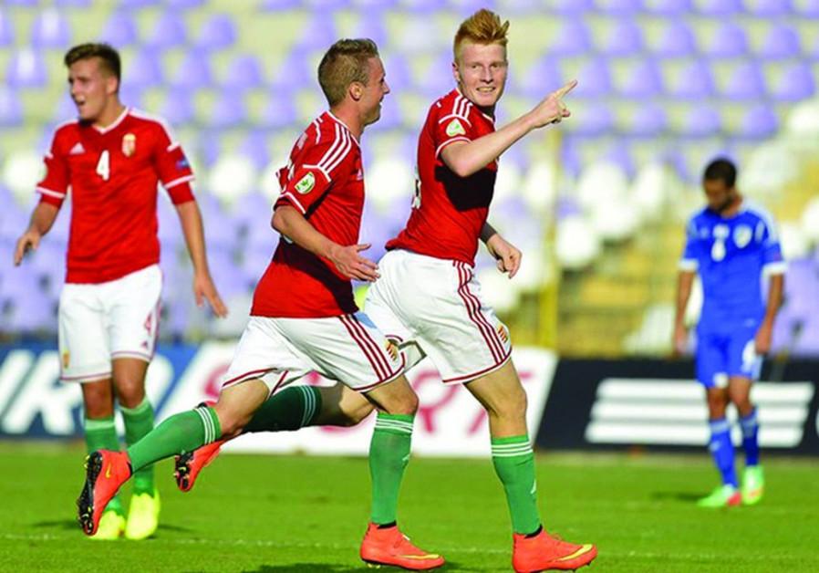 Hungarian U-19 soccer team.