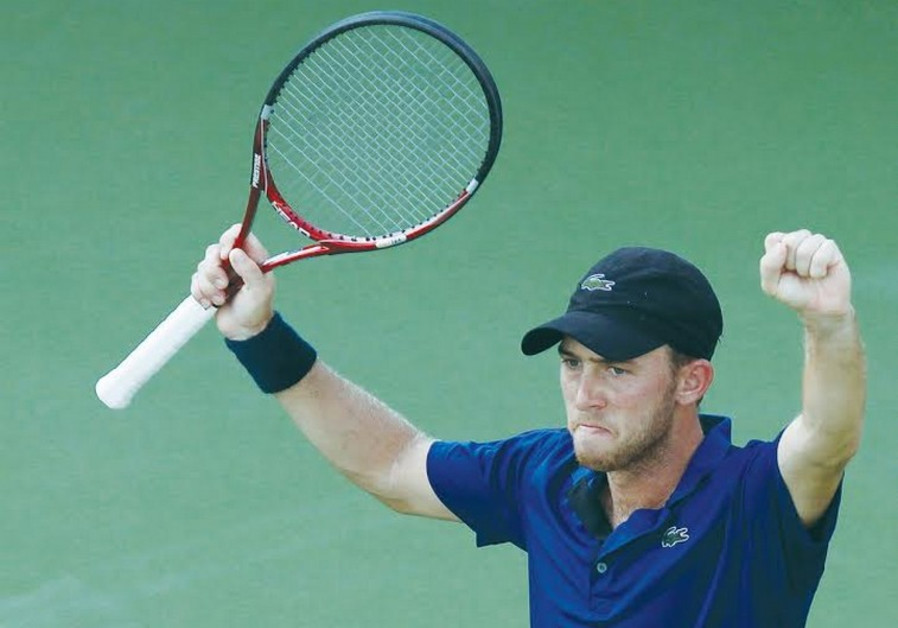 Dudi Sela faced John Isner in the final of the Atlanta Open late Sunday night