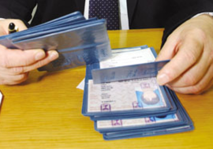 Seven Arabs held for forging Israeli ID cards