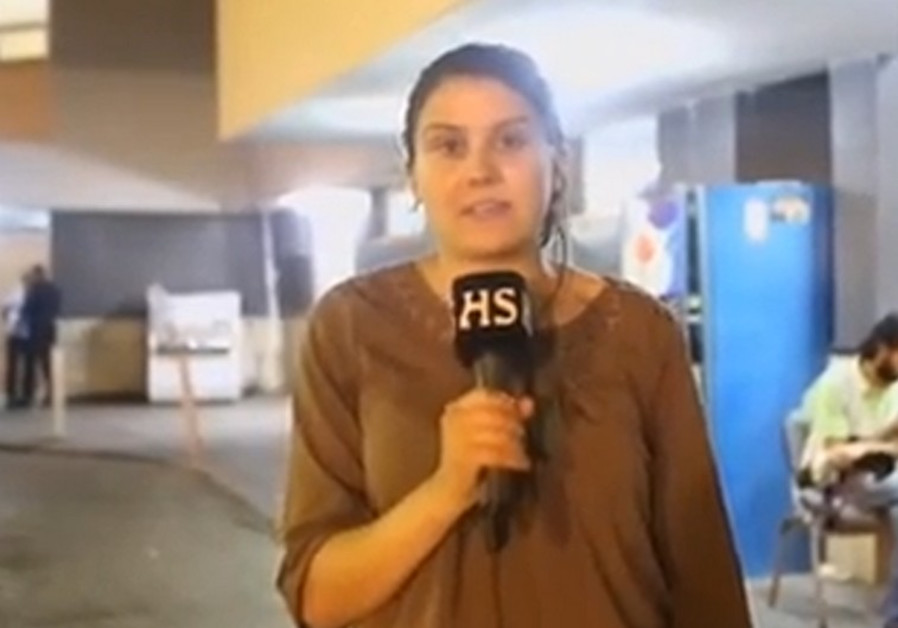 Finnish TV reporter, reporting from Gaza