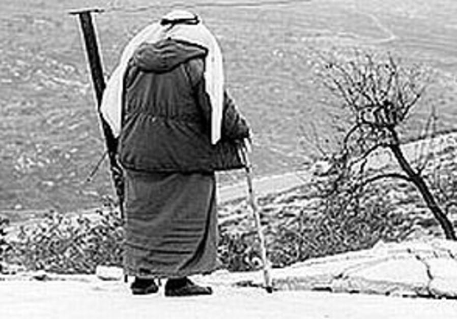 old israeli arab man with cane 298.99
