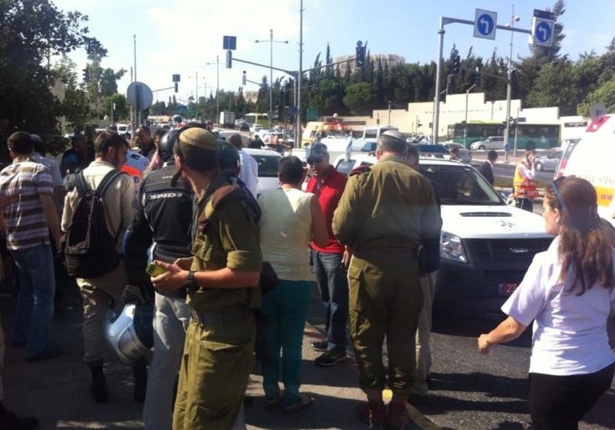 Scene of Jerusalem shooting incident