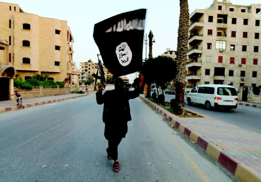 Partisan islamiste à Raqqa en Syrie