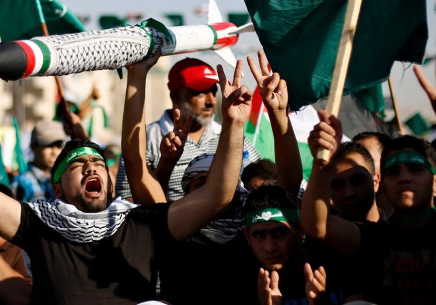 Muslim Brotherhood demonstration, Amman, August 8, 2014.