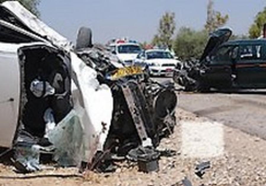 Wadi Ara: 3 dead in head-on collision