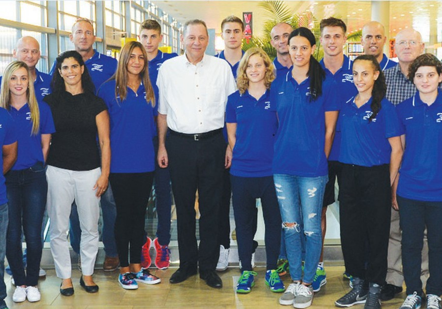 Israel's 14-athlete delegation to the second Summer Youth Olympic Games.