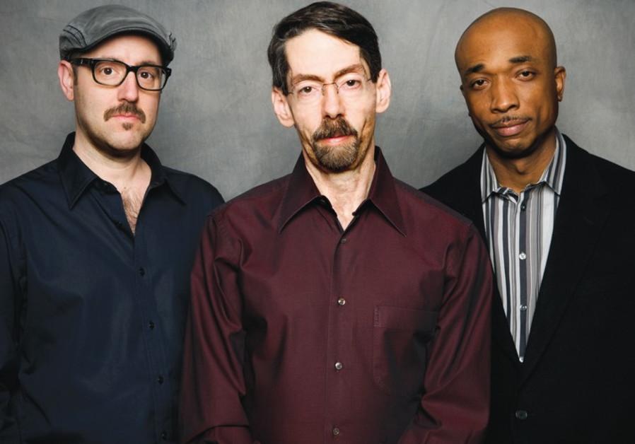 Jazz pianist Fred Hersch (middle), John Hébert (left) and Eric McPherson.