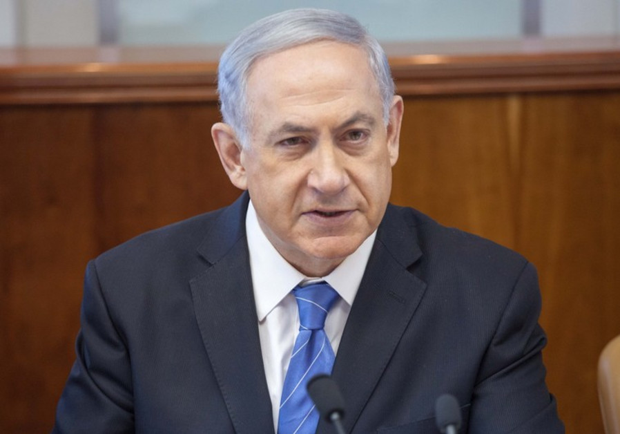 Netanyahu at cabinet meeting