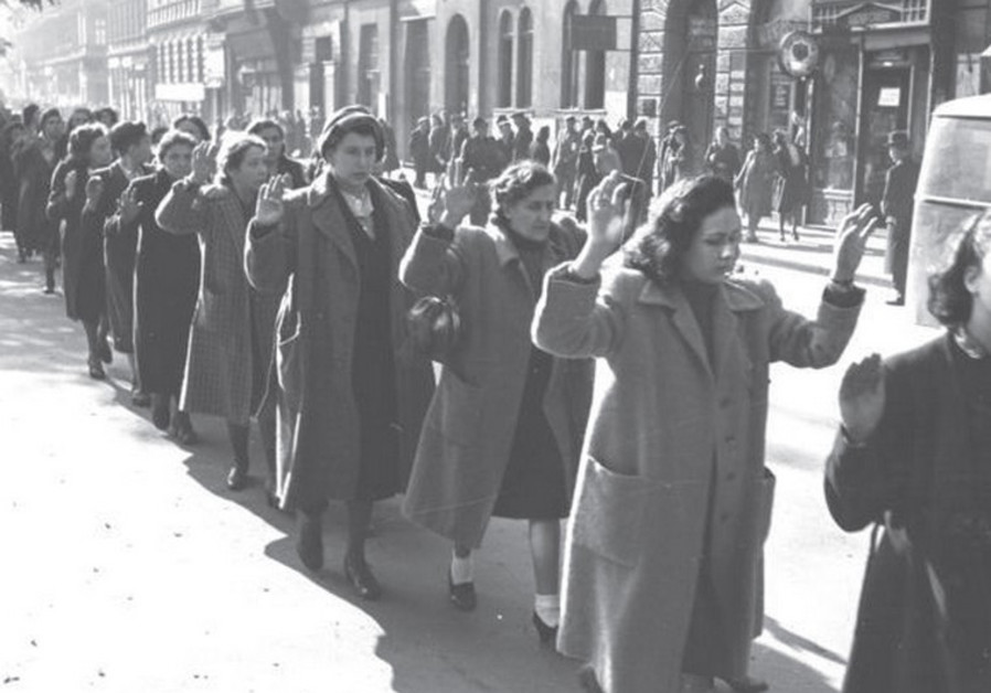 Jewish women are rounded up by Nazis and Hungarian fascists